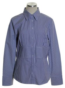Authograph Button Down Shirt Blue