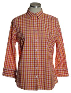 Lands' End Button Down Shirt Orange
