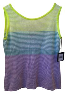 Nanette Lepore Top Yellow Turquoise Lavender