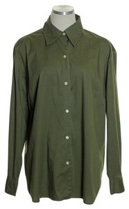 Jones New York Button Down Shirt Army Green