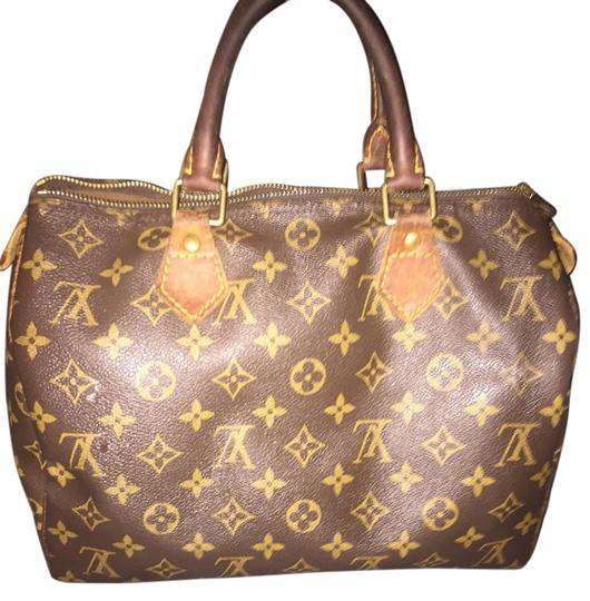 Preload https://item4.tradesy.com/images/louis-vuitton-speedy-30-lv-monogram-brown-leather-and-coated-canvas-satchel-2007793-0-2.jpg?width=440&height=440