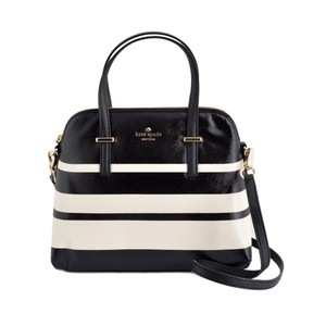 Kate Spade Leather Satchel in BLACL/CEMENT