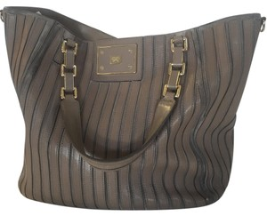 Anya Hindmarch Leather Suede Tote in Taupe