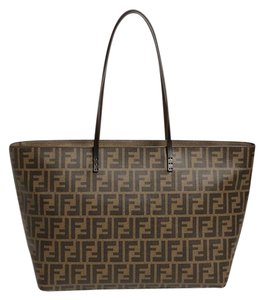 Fendi Louis Vuitton Chanel Tote in Brown