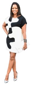 Diane von Furstenberg short dress White/Black Tunic on Tradesy