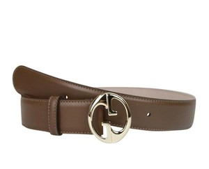 Gucci New Gucci Women's Brown Leather Belt G Buckle 80/32 362728 2527