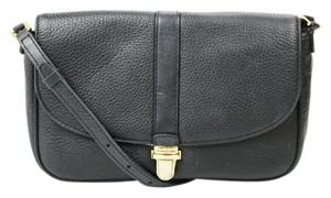 Michael Kors Leather Flap Push Lock Cross Body Bag