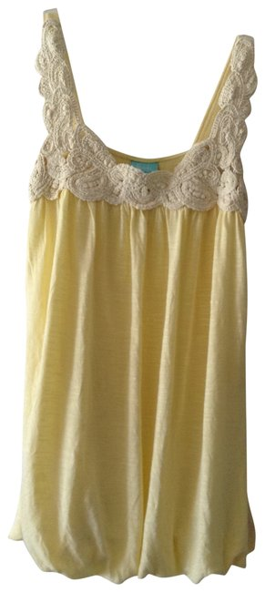 Preload https://img-static.tradesy.com/item/200782/hip-yellow-crochet-straps-and-neckline-tunic-size-6-s-0-0-650-650.jpg