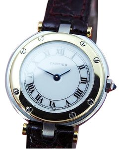 Cartier LADIES SANTOS 18K GOLD & ST.STEEL WHITE ROMAN DIAL QUARTZ