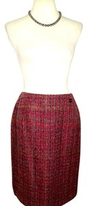 Chanel Skirt Multi Color Wool Tweed