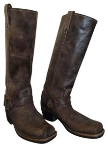 Frye Biker Harness brown Boots