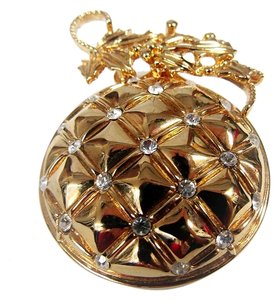 St. John ST JOHN VINTAGE 22KGP PIN BROOCH CHRISTMAS TREE ORNAMENT BALL