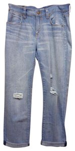 J.Crew Light Wash Distressed Boyfriend Cut Jeans-Distressed