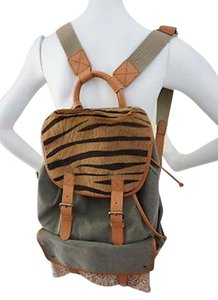 DKNY Safari Style Green Backpack