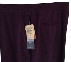 Coldwater Creek Straight Pants Grape Ivy