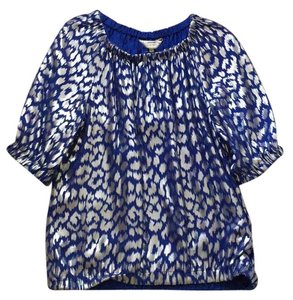 Trina Turk Top Blue and silve