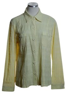 Christopher & Banks Button Down Shirt Yellow