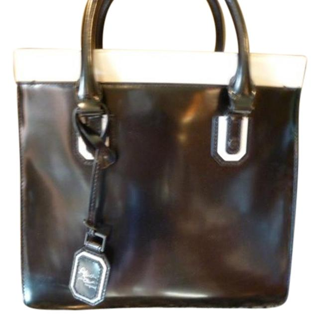 Item - And Tote Black/White Leather Satchel