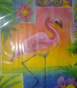 Tropical Paradise Pink Flamingo Luau Napkins
