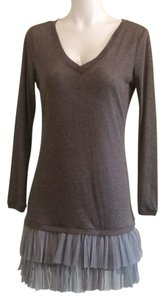 Theme short dress Dark taupe on Tradesy