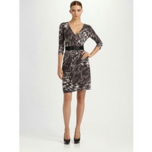 BCBGMAXAZRIA Print Jersey Shift Sheath Dress