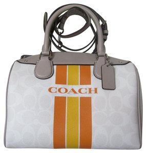 Coach Satchel in chalk/orange