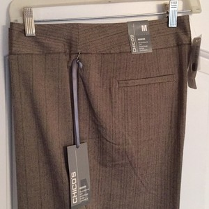 Chico's Wide Leg Pants Taupe Brown