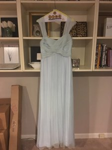 5e6b9c8c4c43 Amsale Ice Chiffon Convertible Crinkled Gown Formal Bridesmaid/Mob Dress  Size 8 (M)
