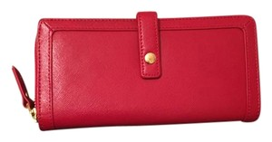 Neiman Marcus Neiman Marcus Red Leather Wallet