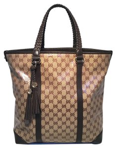Gucci Monogram Monogram Monogram Canvas Tote in brown
