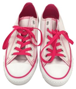 Converse White and Pink Athletic