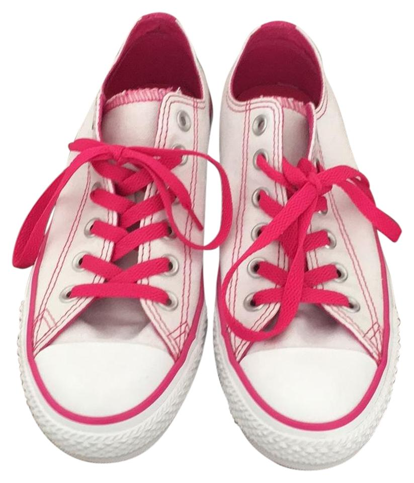 6dc3cbfe5993 Converse White and Pink Chuck Taylor All Star Sneakers Size US 8 ...