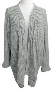 Sam Edelman Sarita Cocoon Sweater Chunky Cable Knit Cardigan
