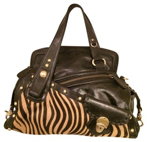 Kate Landry Tote in Black and Zebra