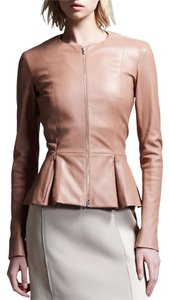 The Row Chanel Burberry Tory Burch Blush Leather Jacket