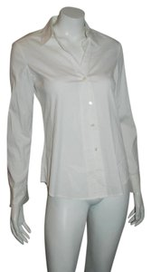 Theory Button Down Collar Button Down Shirt White