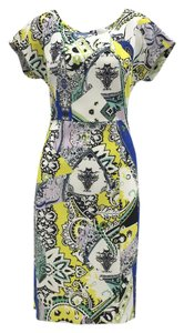 Etro Print Sheath Bold Date Dress
