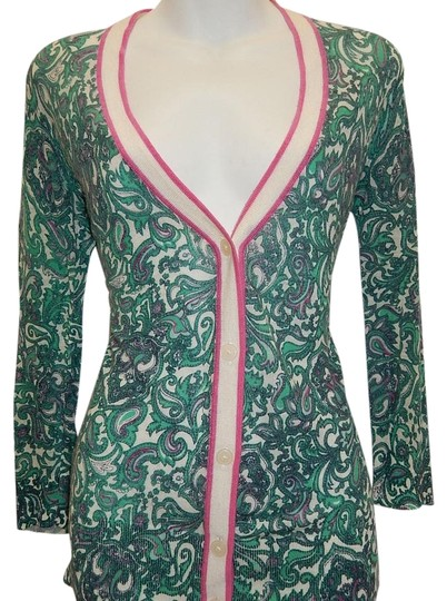 0abcd6eed402e0 on sale Ann Taylor LOFT Paisley 3 4 Sleeve S Cardigan - kdb.co.ke