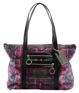 Coach Poppy Tote in Pink and Purple