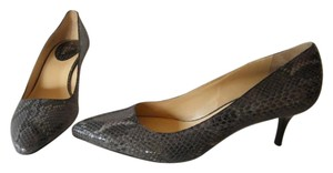 Cole Haan Nike Air Leather Grey Snake Skin Pumps