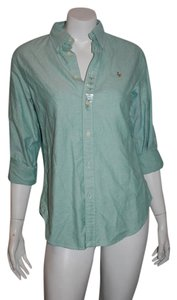 Ralph Lauren Buttonfront Button Down Shirt green