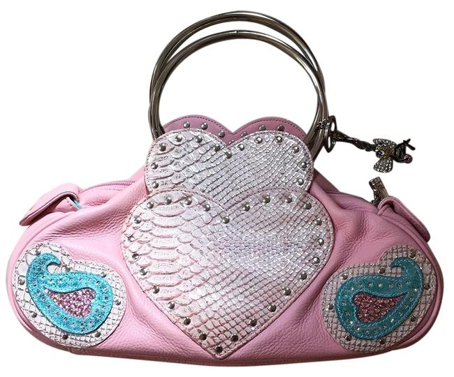 Item - Small Pink Leather Tote