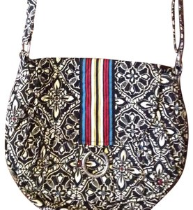 Vera Bradley Black White Messenger Bag