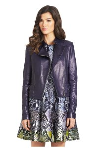 Diane von Furstenberg Leather Motorcycle Jacket