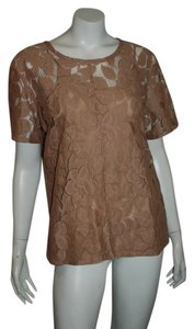 Elizabeth and James Lace Shirt Holiday Top nude