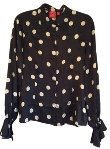 Oscar de la Renta & Polka Dot Top Black + White