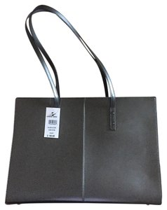 Wilsons Leather Grey Tote in Pewter