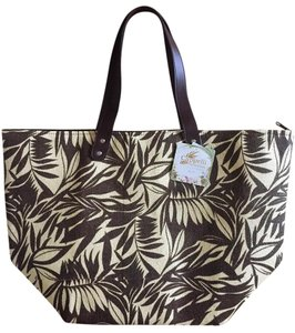 Capelli New York Tote in Brown/Beige