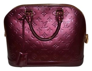 Louis Vuitton Leather Monogram Burgundy Tote in Berry