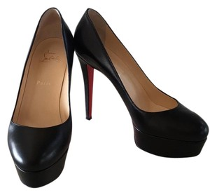 Christian Louboutin Black leather Platforms